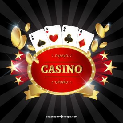 musta kuva punainen kasino logo